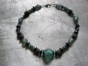 'Fand'Labradorite and glass