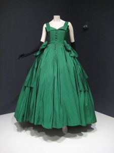 Christian Dior evening dress of 1954 dress on exhibit at the Indianapolis Museum of Art