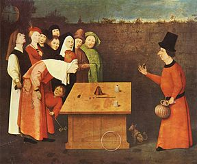 The Conjurer  Hieronymus Bosch (circa 1450–1516) Musée Municipal, Saint-Germain-en-Laye