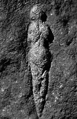 Venus of Abri Pataud, carved 21,000 years ago.