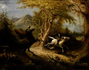 The Headless Horseman Pursuing Ichabod Crane Date 1858 John Quidor (1801-1881) Current location Smithsonian American Art Museum, Museum purchase made possible in part by the Catherine Walden Myer Endowment, the Julia D. Strong Endowment, and the Director's Discretionary Fund