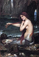 """A Mermaid"" by John William Waterhouse, 1901. Wikipedia.org"