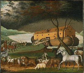 Noah's Ark, (1846),  Edward Hicks  (1780 –1849 Philadelphia Museum of Art
