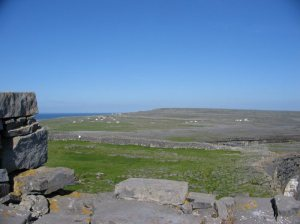 A View over the karst landscape from Dun Aonghasa, Inis Mór,Aran Islands. Wikipedia.org