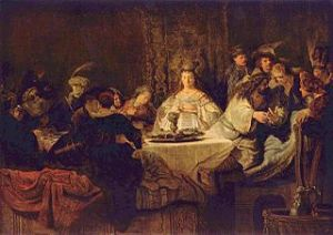Samson's Marriage Feast - 1638 Rembrandt (1606-1669) The Yorck Project - Wikipedia.org