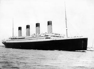 RMS Titanic departing Southampton on April 10, 1912 Wikipedia.org