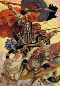 T. W. Rolleston, Myths and Legends of the Celtic Race, 1911 Illustrator: Joseph Christian Leyendecker