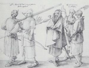 A drawing of Irish soldiers by Albrecht Dürer, 1521. Wikipedia.org
