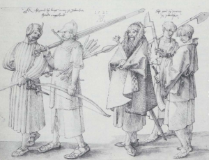 A drawing of Irish soldiers by Albrecht Dürer, 1521. Wikipedia.org