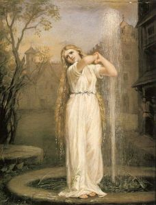 Undine - 1872 John William Waterhouse (1849 - 1917) Wikimedia Commons