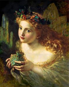 Take the fair face of woman - oil on canvas Sophie Gengembre Anderson (1823 - 1903)