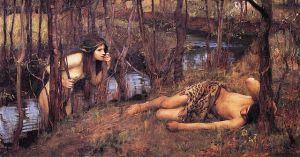 A Naiad with a Nymph John William Waterhouse (1849 - 1917) Wikimedia Commons
