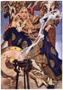 Queen Maev - 1911 Joseph Christian Leyendecker (1874-1951) Creative commons