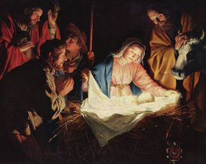 The Adoration of the Shepherds - 1622 Gerard van Honthorst (1590-1656) Wallraf-Richartz Museum Wikipedia.org