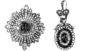 Image of the stolen Irish Crown Jewels, from Hue and Cry,  Image published in 1907. Wikimedia comons