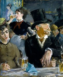 At the Cafe Edouard Manet  (1832–1883) Walters Art Museum