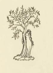 Wood Engraving by Elinor Monsell, on title page of 'Twenty One Poems' by Katherine Tynan, Dun Emer Press 1907 Wikimedia Commons