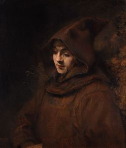 Titus (Rembrandt's son) as a monk - 1660 Rembrandt (1606-1669) Wikimedia Commons