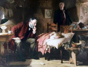 The Doctor - 1891 Luke Fildes (1843–1927)  Wikimedia Commons