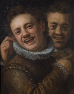 Two laughing men - double Self-Portrait c.1574 Hans von Aachen (1552-1615) Olomouc Museum of Art Wikimedia Commons