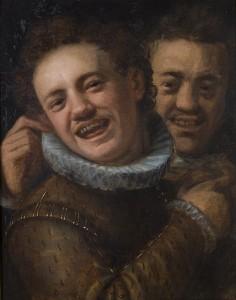 Two laughing men - double Self-Portrait c.1574 Hans von Aachen (1552-1615) Olomouc Museum of Art Wikimedia Commons