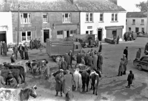 The Square, Kinvara c. 1950 Cresswell Archives