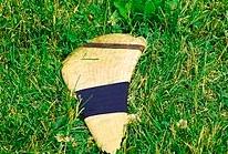 """Cracked and splintered hurley""   Jeff Meade Philadelphia, US   Wikimedia Commons"