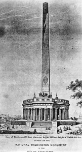 Sketch of the proposed Washington Monument by architect Robert Mills circa 1836. Wikipedia.org