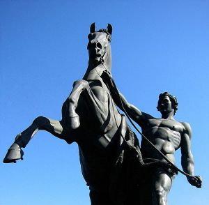 The Horse Tamers sculpture on Anichkov Bridge in Saint Petersburg i by Peter Klodt. (1805-1867)  Photo: Walter Smith Creative Commons