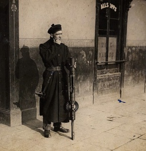 """A Black and Tan on duty in Dublin"" by National Library of Ireland  Wikimedia Commons -"