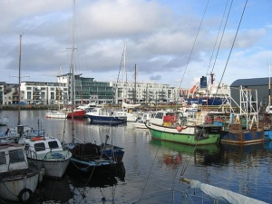 """Galway Harbour 2007"" by Photo: Sulmac  Wikimedia Commons"
