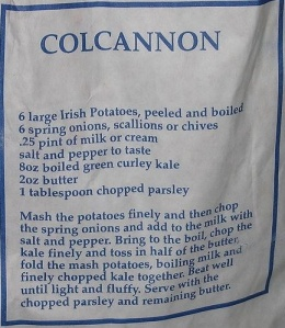 Colcannon recipe on bag of potatoes Photo: Sarah777  Wikimedia Commons