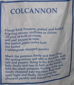 Colcannon recipe on bag of potatoes Photo: Sarah777  Wikimedia Commons