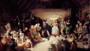 """Snap-Apple Night"" by Daniel Maclise - 1833   Wikimedia Commons"