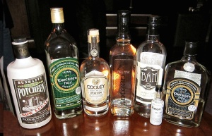 Poitin or Poteen Bottles Photo: Ethanbentley  Wikimedia Commons