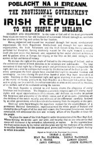 Easter Proclamation - 1916 Jtdirl:  Wikimedia Commons