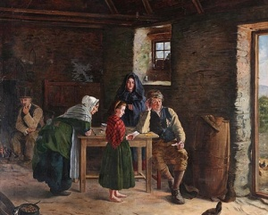 News from America 1875 James Brenan (1837-1907) Crawford Art Gallery, Cork