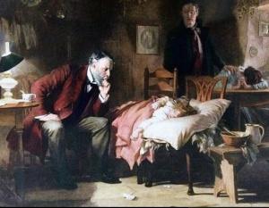 The Doctor  Luke Fildes  1891  Wikimedia Commons
