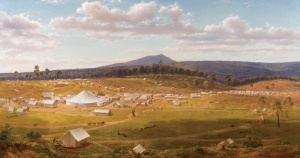 Ballarat 1853-54 by Eugene von Guérard  Wikimedia Commons