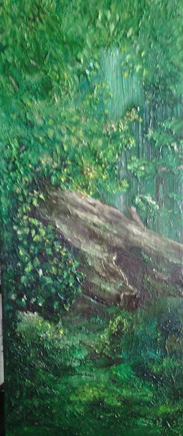 Coole Park Summer Oil on canvas 20X50cm