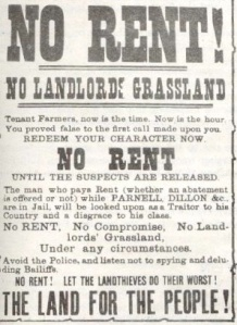 Land League poster 1880s Wikipedia