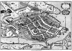 Walled city of Galway, 1651. Wikimedia Commons