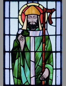 Kilbennan St. Benin's Church Window St. Patrick Detail Andreas F. Borchert. Wikimedia Commons