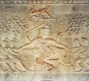 A tug of war between asuras and devas Angkor Wat, Cambodia Photo: Markalexander