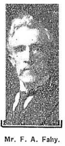 Mr Francis A. Fahy, Kinvara. Photo: Connacht Tribune 8th March 1924 p14