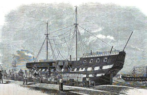 HMS Warrior - Prison Ship Mayhew, Henry and Binny John. The Criminal Prisons of London, and Scenes of Prison Life, Volume 3 of The Great Metropolis, Griffin, Bohn, and Company, 1862,  Wikimedia Commons
