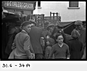 Fair Day, Kinvara c1950s Cresswell Archives