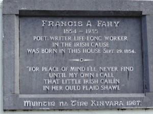 Francis A. Fahy Commemorative Plaque