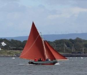 Image; Galway Hooker Kinvara Photo: Cqui Wikimedia Commons