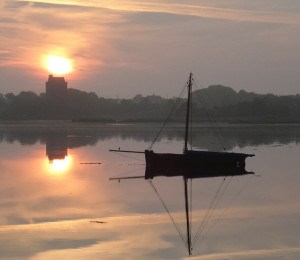 Dawn had not yet broken Kinvara sunrise. Photo: Norma Scheibe